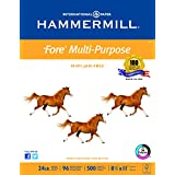 Hammermill Printer Paper, Fore MP Copy Paper, 24lb, 8.5 x 11, Letter, 96 Bright - 1 Pack / 500 Sheets (103283R)
