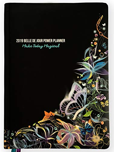 Belle de Jour Power Planner 2019 for Goal and Life - Weekly, Monthly and Yearly Planner - Calendar + Organizer - International Edition - Black, Blue, and Purple (Limited Edition)