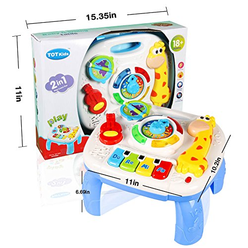 Musical Learning Table Baby Toys-Early Education Music Activity Center Table for Babies, Toddler for 12 to 18 Months -Lighting&Sound