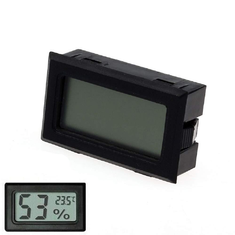 Orcbee  _Mini Digital LCD Temperature Humidity Meter Thermometer Hygrometer Indoor Black