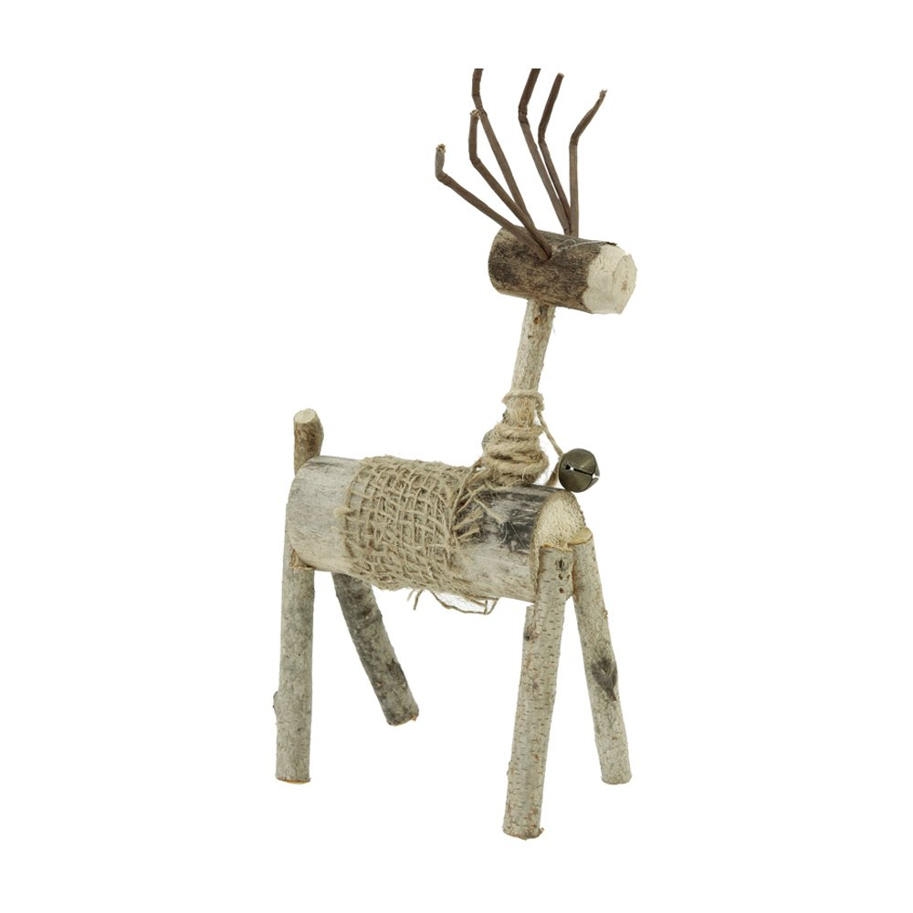 FLYING BALLOON Rustic Deer Wood Mini Decor Keepsake Accessories Knick Knacks Best Gift for Mom and Dad