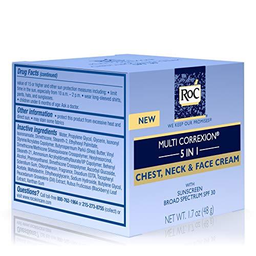511kEOBBL8L - RoC Multi Correxion 5 in 1 Anti-Aging Chest, Neck and Face Cream with SPF 30, Moisturizing Cream Made with Vitamin E, 1.7 oz