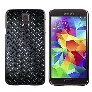 TopCaseStore / la caja del caucho duro de la cubierta de protección de la piel - Diamont Plated Steel Grunge Pattern - Samsung Galaxy S5 SM-G900