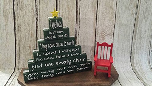 Poems About Christmas Time.Christmas In Heaven Christmas In Heaven Poem Christmas Display Christmas In Heaven Display Christmas In Heaven With Chair Xmas Blocks
