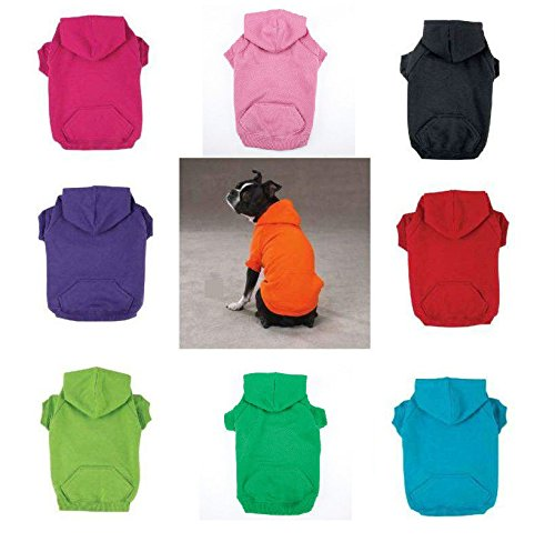 Dog Hoodies Bright Soft Cotton Hooded Sweatshirt For Dogs Choose Size & Color(xLarge Green)