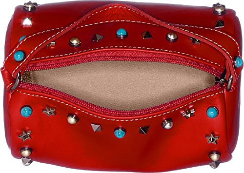 H Borsa X 18x12x12 Borse Donna Cm Mano w Chicca red 1519 A L Rosso aF6wvq