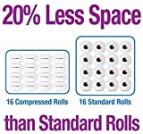 Scott Compressed Toilet Paper,32 Rolls (2 packs of 16), Bath Tissue