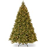 National Tree (PEDD1-312-100) Feel-Real Downswept Douglas Hinged Tree with 1000 Clear Lights