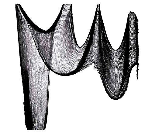 Scary & Non Scary Halloween Decorations (Black Creepy Cloth 30