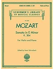 Sonata in E Minor, K304: Schirmer Library of Classics Volume 2068 for Violin and Piano