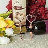 Mikash Heart Sets of Wine Bottle Stopper and Opener Wedding Favors Decorations Accents | Model WDDNGDCRTN - 8365 | 10 Sets