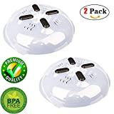 Microwave Plate Cover with Magnet Microwave Splatter Guard Microwave Splatter Lid With Steam Vent Adsorbed Function Safe Convenient, BPA-FREE,2 Pack,by Amrzs