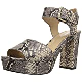 The Fix Women's Farah Single Buckle Platform Dress Sandal, Python Print, 7.5 B US