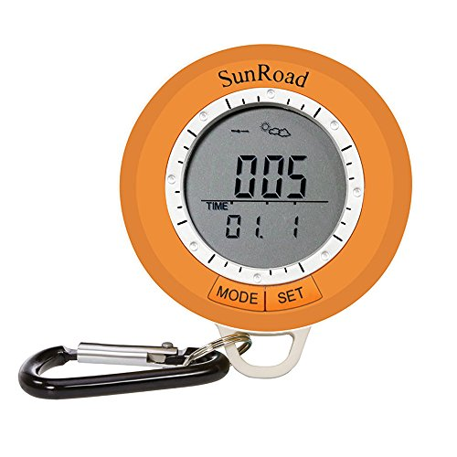 SUNROAD SR108S Outdoor Mini Hiking Computer Waterproof Men Causal Watch-Pedometer Altimeter Watch Thermometer Compass Weather Forecast Multifunction fitness by SUNROAD