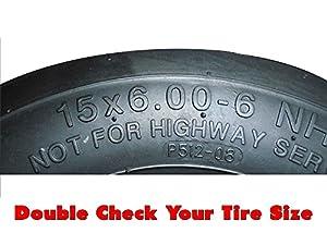 (2) Kubota Flat Free Tire Assemblies 15x6.00-6 Fits ZD321, ZD323, ZD326, ZD331, ZG327, ZG 332 Replaces K3181-18032