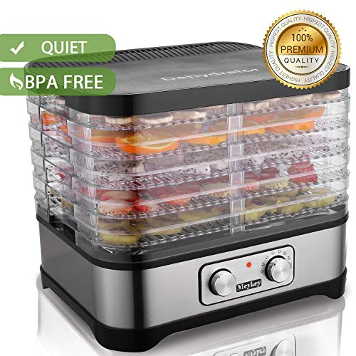 Food Dehydrator Machine, Jerky Dehydrators with Five Tray, Knob Button by SuperPostman