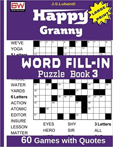 Book Happy Granny WORD FILL-IN Puzzle Book 3 (Volume 3)