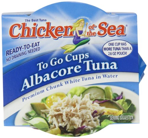 Chicken of the Sea Tuna Chunk White Water Cup, 2 - 2.8-Ounce Cups per Pack, (Pack of 8)