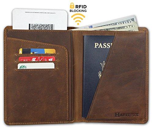 RFID Blocking Passport Holder Travel Wallet