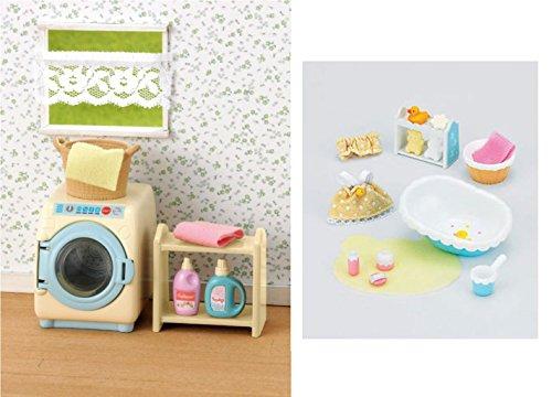 Two Sets - Baby Bath and Washing Machine Sets (Japan Import) (Washing Machine Set)
