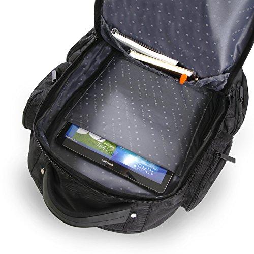 511kHfsuGRL - Perry Ellis Men's 9-Pocket Professional Laptop Backpack-P350 Business Backpack, Black, One Size