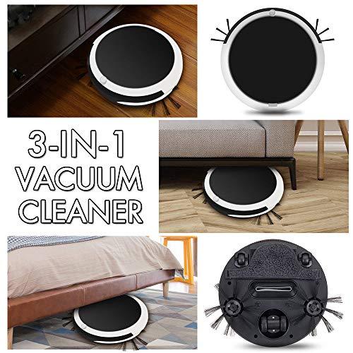 Vacuum Robot, Auto Rechargeable Smart Robot Vacuum Cordless 3-in-1 Dry Wet Floor Mop Cleaner by Little Story