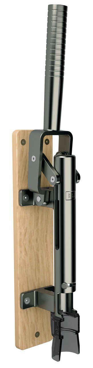 BOJ Professional Wall-mounted Corkscrew with Wood Backing Model 110 (Black Nickeled)