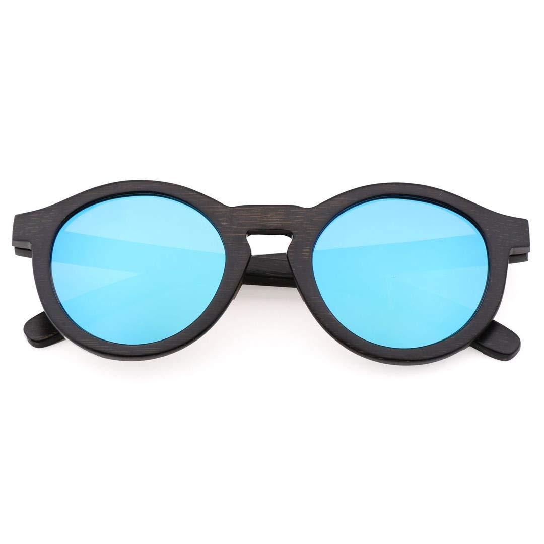 bluee Sunglass Women and Men's Riding Polarized Sunglasses, Bamboo Glasses Frame, Fashion Sunglasses