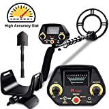 RM RICOMAX Metal Detector GC-1023 Gold Detector【Disc & Tone & Pinpoint Modes】Metal Detector for Adults & Kids with View Meter & Headphones Jack Metal Detector Waterproof with High-Accuracy, Easy to Us
