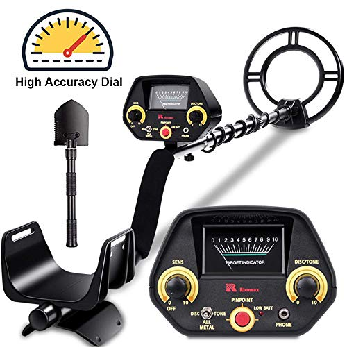 RM RICOMAX Metal Detector GC-1023 Gold Detector【Disc & Tone & Pinpoint Modes】Metal Detector for Adults & Kids with View Meter & Headphones Jack Metal Detector Waterproof with High-Accuracy, Easy to Us from RM RICOMAX