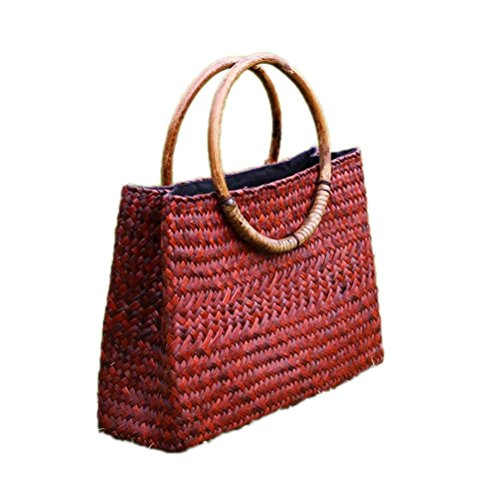 Kimiyar Straw Bunched Grass Bags Arts & Crafts Beach Buns Cotton & Neck Dresses With Bunches Rattan Bunches Weave (Craft Articles Rattan)