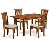 East West Furniture PSPO5-SBR-C 5-Piece Kitchen Table Set Review