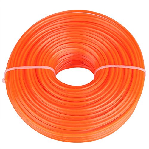 GLOGLOW 2.4mm String Trimmer Line Nylon Cord Wire Square String Trimmer Line in Spool Grass Trimmer Replacement Mowers Tools(50m) by GLOGLOW