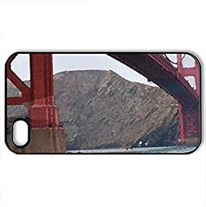 Golden gate - Case Cover for iPhone 4 and 4s (Bridges Series, Watercolor style, Black) by icecream design