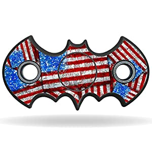 MightySkins Vinyl Decal Skin For Bat Shaped Fidget Spinner – Flag Drips | Protective Sticker Wrap For Your Fidget toy | Easy To Apply Cover at Gotham City Store