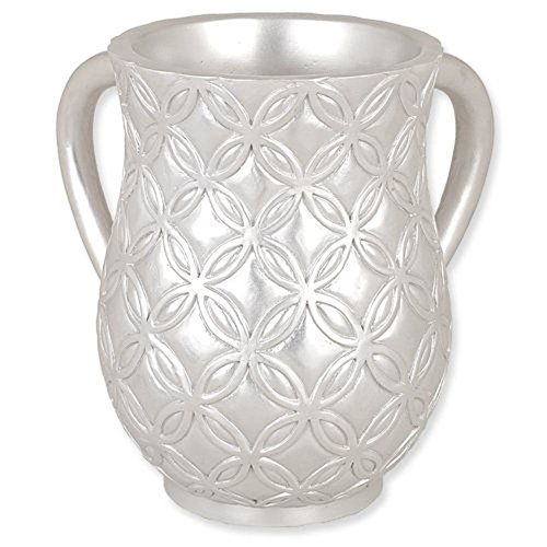 "Ultimate Judaica Contemporary Design Pearly Finish Resin Wash Cup (Netilat Yadayim) - 6.25"" H"