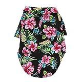 DOGGIE DESIGN Hawaiian Camp Dog Shirt (Paradise Nights, M)