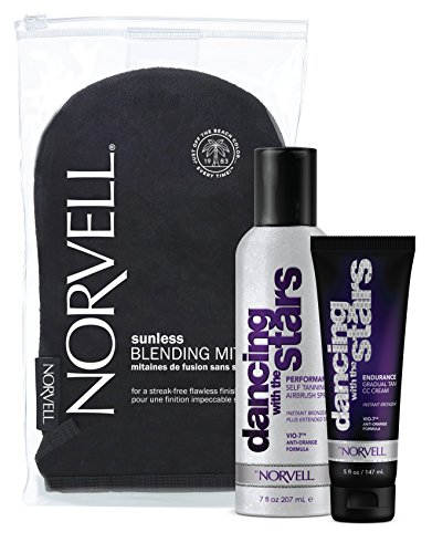 Dancing With The Stars Self Tanning Kit  Performance Airbrush 7 Fl Oz   Endurance 5 Fl Oz   Norvell Blending Mitt