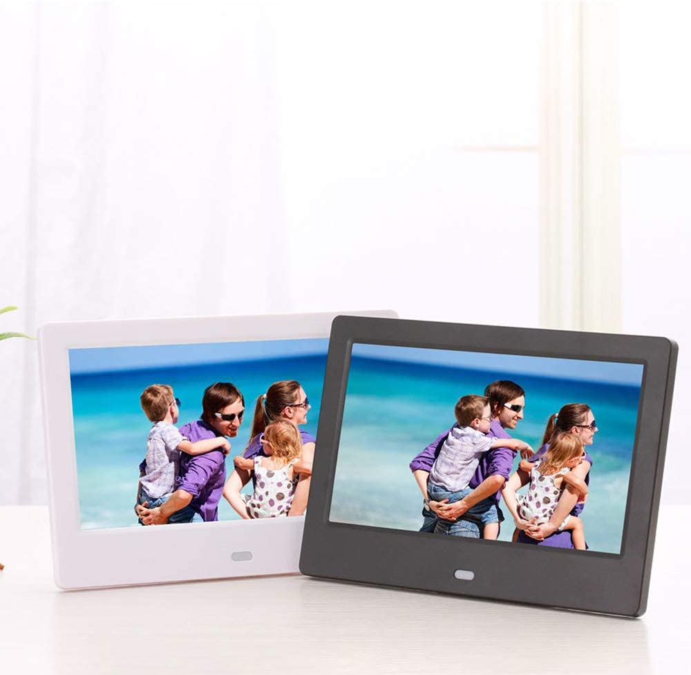 Dayangiii 12 inch Photo Frame Electronic Photo Frame Digital Picture Frame with Remote Control Motion Sensor SD Card Video Player,Black,UK