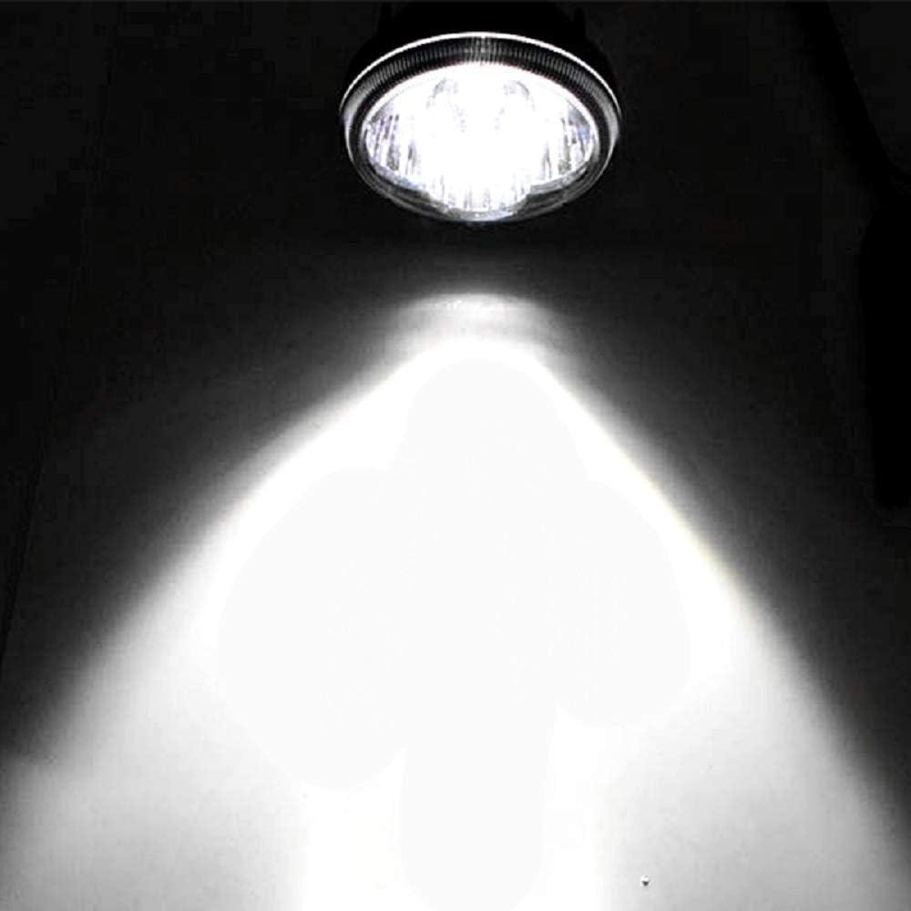 Motorcycle Fog Light 2pcs 12W Round Led Spotlight for Motorbike Off-road Je-ep ATV Truck SUV Boat