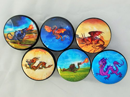 Set of 6 Dragon Cabinet Knobs