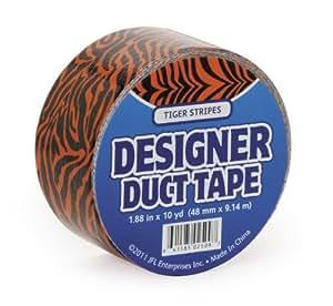 Sólo para risas jfl2509Duct Tape, 10-Yard, tigre naranja Color: Naranja, Modelo: jfl2509, herramientas y Ferretería
