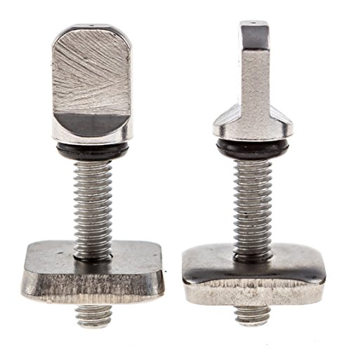 Santa Barbara Surfing SBS - No Tool Stainless Steel Fin Screw for Longboard and SUP - 2 Pack
