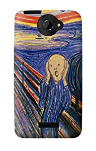 S0203 Edvard Munch The Scream Case Cover for HTC ONE X