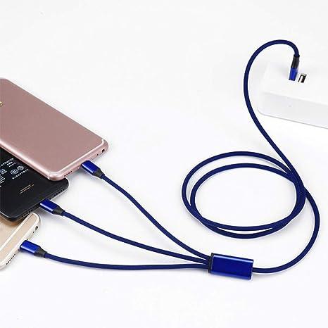 WAN Cable de Carga rápida con Cargador Multi USB, Cable de Carga ...
