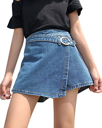 Fonc Jupes Slim Jupe Bleu Regular Femme Shorts Kasen Stretch Denim Skinny SBxqHqFw