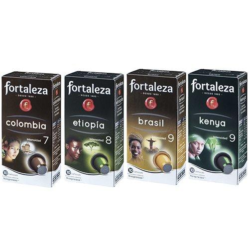 Café FORTALEZA - Surtido de Cápsulas de Café Orígenes Compatibles con Nespresso - Pack 20 x 10 - Total 200 cápsulas: Amazon.es: Alimentación y bebidas