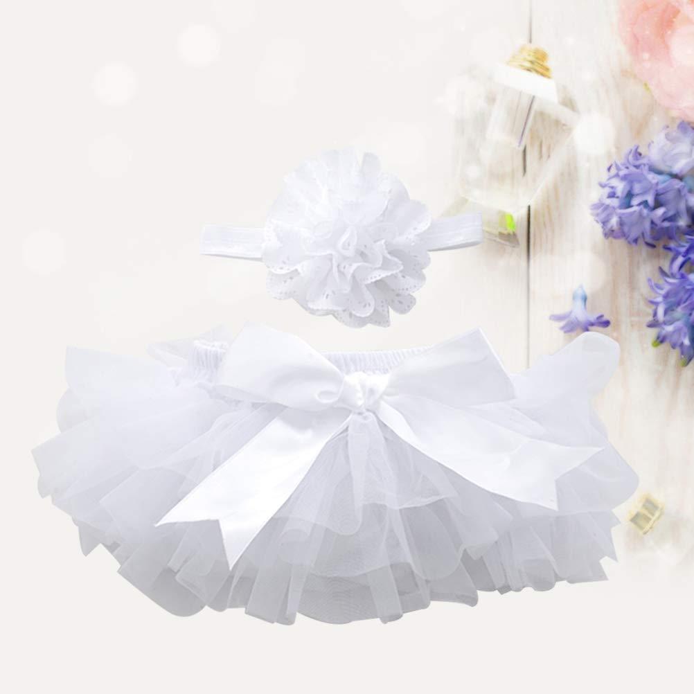 FENICAL Falda de tutú y Diadema de Flores Bebé niñas Vestido de ...