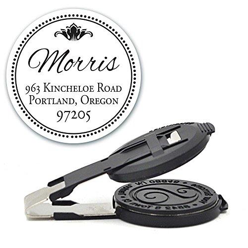 Custom Monogram Address Embosser - Personalized Round Seal - Insert Only - Style EM031 (Artwork Custom Embosser)