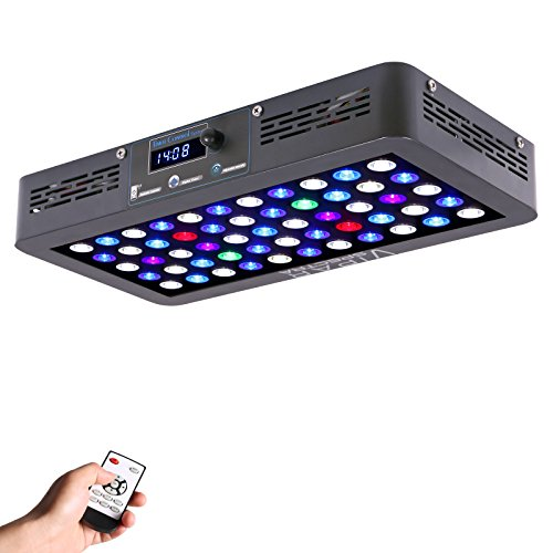 Reef Fish Tanks (VIPARSPECTRA Timer Control 165W LED Aquarium Light Dimmable Full Spectrum for Coral Reef Grow Fish Tank)